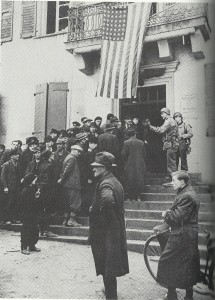 US-Kommandantur in Homburg, Ende März 1945